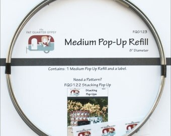 """Medium Pop-Up Refill from Fat Quarter Gypsy - Coil and Template for 8"""" Diameter Pop-Up Basket Container"""