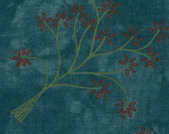 Rainforest by Janine Burke for Riverwoods - Full or Half Yard Modern Trees with Orange Leaves - 1870-2