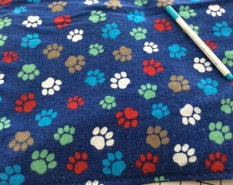 Washable, Waterproof, Reusable Puppy / Potty Pad - 18 x 24 -Blue with Multi  Colored Paw Prints