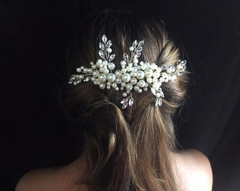Sale Bridal Hair Comb - Wedding Hair Comb- Bridal headpiece- Wedding Hair Accessories-Rhinestone Bridal Comb-Crystal Wedding Comb