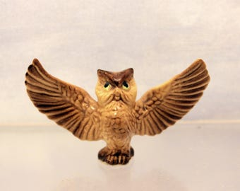 Miniature Papa Owl Figurine Retired Hagen Renaker Woodland Animal Bird T