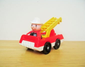 Vintage Fisher Price Firetruck and Fireman