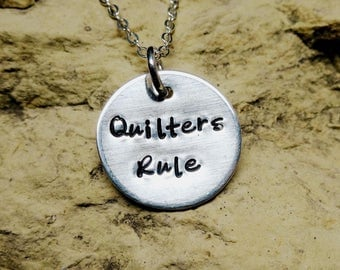 Quilters Rule - Sterling Silver Charm