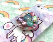 Phone Grip Holder Stand Pop Socket Rhinestone Gem Decoden Bling Sparkly Girly iPhone 5 6 7 plus Android Accessories Kawaii Fairy Kei Lolita
