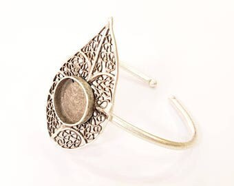 Bracelet Blanks Bangle Blanks Cuff Blanks Adjustable Bracelet Blank Antique Silver Plated Brass ( 16mm Blanks ) G7657