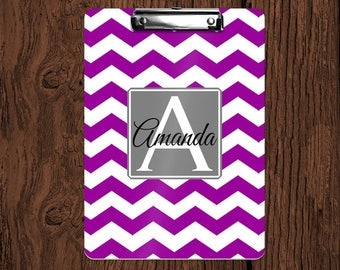 Chevron Personalized Monogrammed 2-Sided Dry Erase Clipboard - Great Teacher, Coach, Office Gift!