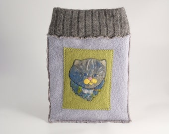 Blue cat tablet sleeve
