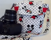 Dollbirdies Original Large DSLR Camera Bag, Camera Case, Camera Tote, Mickey Mouse Camera Bag