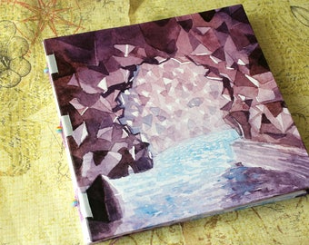 Handbound Art Journal Mixed Media Sketchbook - Amethyst