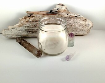 Eucalyptus Soy Candle, 8oz Soy Wax Candle, Hand Poured Candle, Natures Garden Candles, Ready To Ship, Clean And Fresh