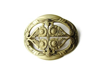 Antique Victorian Gold Alloy Brooch c.1880s