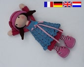 Crochet pattern for doll CELINE (Deutsch, English, Français, Nederlands)