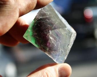 Fluorite Crystal Purple and Green