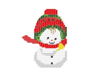 Plastic Canvas SnowBaby with Bell Instant Download