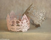 Newborn Crown, Baby Headband, Mini Crown, Lace Crown, Tiara, Baby Girl Crown, Gold Crown, Lace Crown, Silver Crown, Blush, Newborn Props