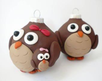 Owl Family Christmas Decorations