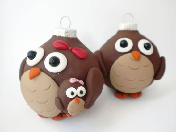 Owl Family Christmas Decorations