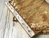Whiting Davis Gold Mesh Glam Evening Bag Clutch Purse