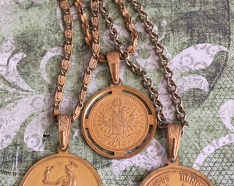 Miriam Haskell Gold Coin Necklace
