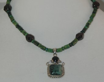 Ruby, Jade and Aminite Necklace from the Tinker's Eye Collection