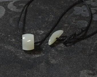 Siberian White/Celadon Jade Bead Corded