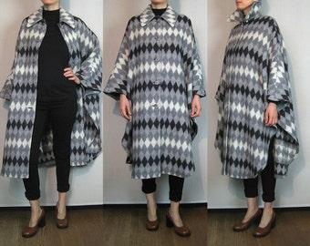 Harlequin WOOL Cape Coat