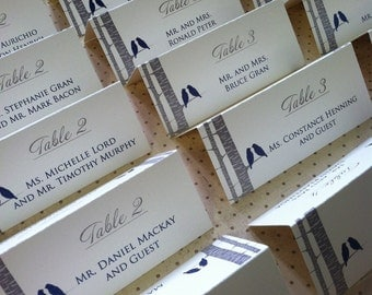 Custom Escort / Place Cards to Match Your Invitations - flat or folded