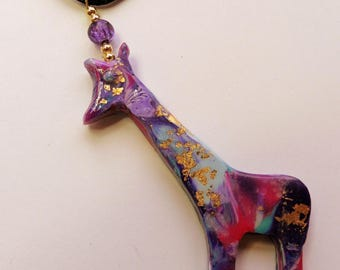 Giraffe Pendant Giraffe Jewelry Giraffe Necklace  African Jewelry
