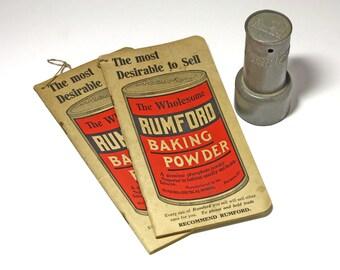 Vintage Rumford Baking Powder Advertising Booklets - circa 1920's