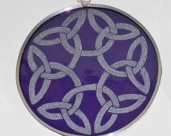 Purple Celtic Knot Suncatcher