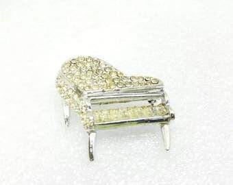 J Coro Rhinestone Baby Grand Piano Brooch Piano Musical
