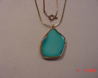 Vintage Polished Stone Necklace  17 - 50