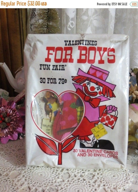 ON SALE Old Stock-Unused-Valentine Day Cards from the 1980's-Original Package