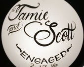 Engagement Ornament, Personalized, gift boxed, gift card included