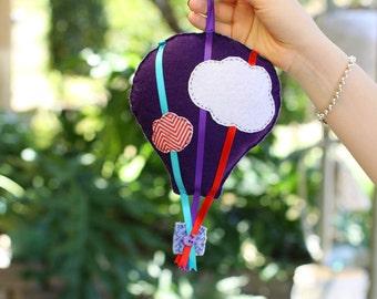 Felt Hot Air Balloon Mobile, Small