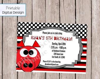 WPS Birthday Party Invitation Style DI2188 DIGITAL File - Printable - Boy or Girl