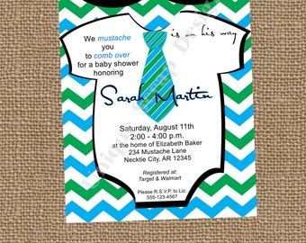 Little Man TOO Baby Shower Invitation Style DI2181 DIGITAL File - Printable