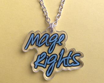 Dragon Age - Mage Rights Acrylic Necklace - Anders - Dorian Pavus - FREE SHIPPING