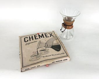 CHEMEX Large GREEN STAMP Vintage All Original with filters
