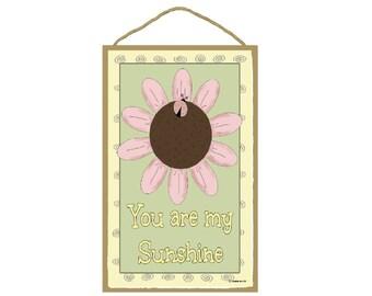 "Ladybug and Flower You Are My Sunshine Loving Sign 7""X10.5"""