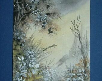 aceo art painting original watercolour (ref 471)