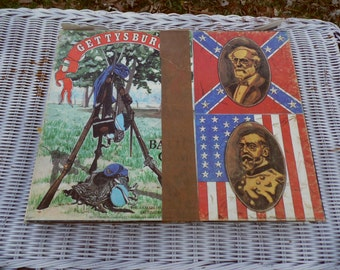 Gettysburg vintage board game 1977 by Avalon Hill complete game US Civil War battlefield war game Complete game many pieces unpunched