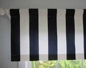 reserved for wacsi1...Navy Blue and White Cabana Stripe Curtain Valance