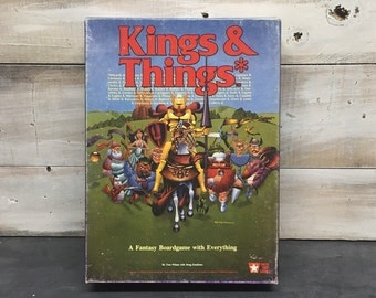 1986 Kings & Things Game, A Fantasy Board Game with Everything, West End Games, Games Workshop