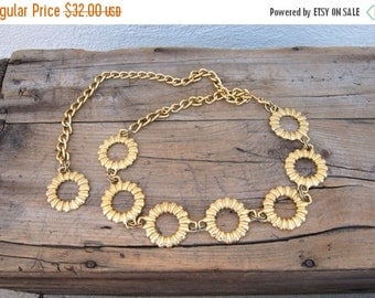 15% OFF Out Of Town SALE Gold Ring Chain Adjustable Belt OSFM by Omega