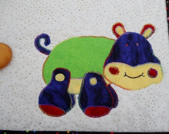 Toy Hippo Snack Mat in Primary Colors