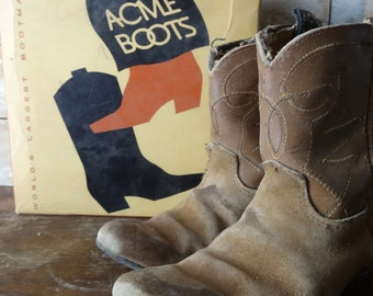 Vintage Childs CowBoy Boots Very Old Adorable Use for Display