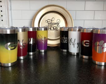 Painted stainless tumbler