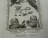 Antique 1800s Memento Mori Vanitas, Memento Mori Curio, offered by RusticGypsyCreations