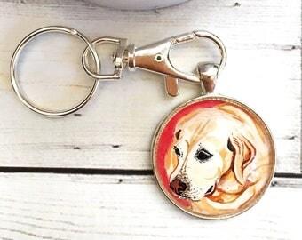 Dog Keychain- Dog Lover Gift- Labrador Gifts- Dog Memorial Keychain- Pet Memorial Keychain- Dog Painting- Pet Loss Gifts- Dog Memorial Gift